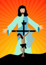 Jesus christ resurected Royalty Free Stock Photo