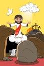 image photo : Jesus Christ Resurrection Tomb Rising