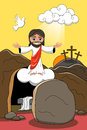 Jesus Christ Resurrection Tomb Rising Royalty Free Stock Photo