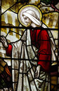 Jesus Christ (risen) in stained glass Royalty Free Stock Photo