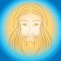 Jesus Christ shine light gloride rays Stock Photos