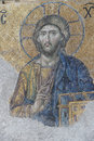 Jesus christ sitting in judgement mosaic hagia sophia istanbul turkey Royalty Free Stock Images