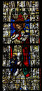 Jesus christ stained glass cathedral rouen france Royalty Free Stock Photography