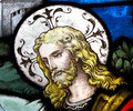 Jesus Christ in stained glass Royalty Free Stock Photo