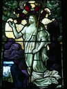 Jesus Christ stained glass window Stock Images