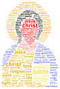 Jesus christ word cloud concept Royalty Free Stock Images