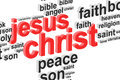 Jesus christ word cloud concept Photographie stock