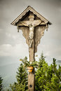 Jesus cross herzogstand an image of a at bavaria germany Royalty Free Stock Image