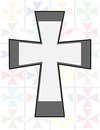 Jesus Cross in Two Tone Color on The Transparency Cristal Wall Stock Images
