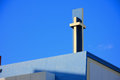 Jesus cross yellow on top the church of christ florida Stock Images