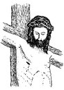 Jesus crucified illustration of the face of Royalty Free Stock Photo