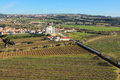 Jesus da pedra church obidos portugal panoramic senhor sanctuary and crop fields Royalty Free Stock Photos