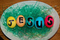 Jesus easter eggs Stockfoto
