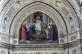 Jesus Fresco Duomo Cathedral Florence Italy