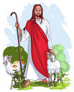 Jesus is a good shepherd Stock Photos