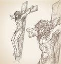 Jesus hand draw christ illustration Royalty Free Stock Photo