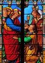 Jesus heals a blind man Royalty Free Stock Photo