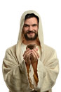 Jesus holding communion cup Foto de Stock Royalty Free