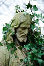 Jesus with ivy Royalty Free Stock Photo