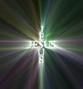 Jesus light cross light flare