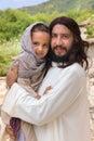 Jesus loving little children Royalty Free Stock Photo