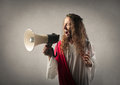 Jesus with a megaphone Royalty Free Stock Photo
