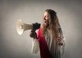 Jesus with a megaphone