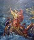 Jesus` miracle Royalty Free Stock Photo