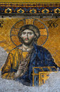 Jesus mosaic in Hagia Sophia (Aya Sofya) Royalty Free Stock Photo