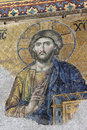 Jesus Mosaic in Hagia Sophia Istanbul Royalty Free Stock Photos