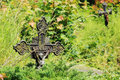 Jesus on the old village cemetery czech republic Royalty Free Stock Images