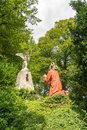 Jesus is praying to Angel and God, statue on Kalvarienberg, Calvary Mountain, Bad Tolz, Bavaria, Germany Royalty Free Stock Photo