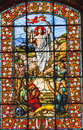 Jesus Ressurection Stained Glass Saint Louis En L'ile Church Paris France Royalty Free Stock Photo