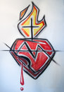 Jesus Sacred Heart illustration Royalty Free Stock Photo