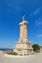 Jesus of the sacred heart statue at menorca island highest point monte toro spain Stock Images