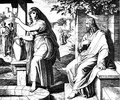 Jesus and the samaritan woman sacred biblical history of old new testament two hundred forty images ed st petersburg Royalty Free Stock Images
