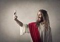 Jesus taking a selfie