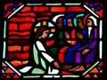 Jesus washing the feet of Saint Peter on Maundy Thursday Royalty Free Stock Photo