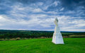 Jesus Watching Over the Mohawk Valley  Royalty Free Stock Images