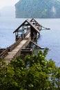 Jetée à l'île de James Bond Photographie stock libre de droits