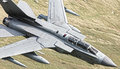 Jet detail in flight stunning of a tornado from above Stock Photos