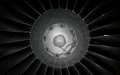 Jet engine abstract black white Royalty Free Stock Photos