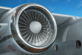 Jet engine on airplane Royalty Free Stock Photo