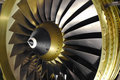 Jet engine blades Royalty Free Stock Photo