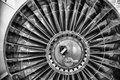 Jet engine close up of fins Royalty Free Stock Photo