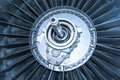 Jet engine fan turbine Royalty Free Stock Photo