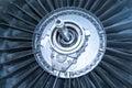 Jet engine fan turbine Royalty Free Stock Photo