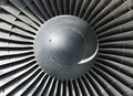 Jet engine nose cone inlet Royalty Free Stock Photography