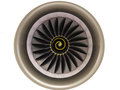 Jet engine over white background Royalty Free Stock Photos