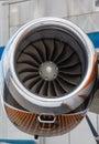 Jet engine passenger plane Royalty Free Stock Image